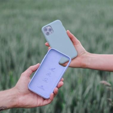 Selbstreinigende Bio iPhone Hülle aus nachhaltigen Materialien - Kompostierbar, auf Pflanzenbasis, Antibakteriell - Lavendel Blau