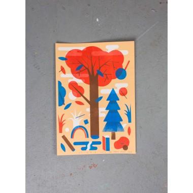 Martin Krusche - Stencilprint »Forest« DINA4