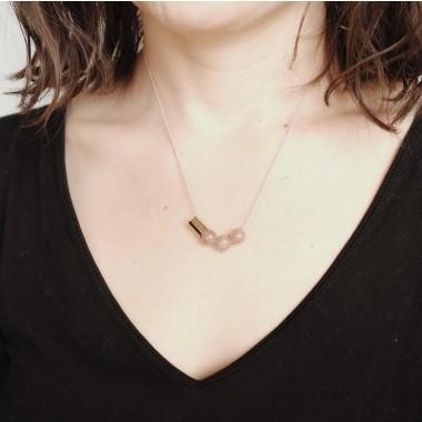 BRASSCAKE // Strawberryquarz Necklace