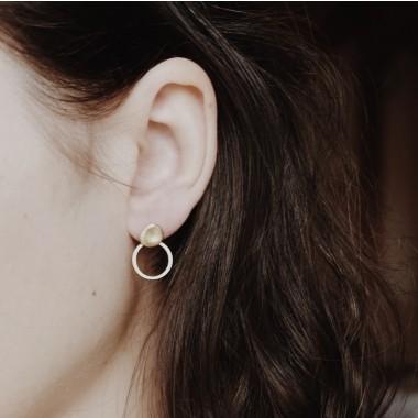 BRASSCAKE // Via Earrings