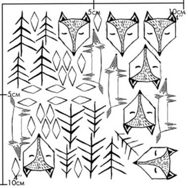 nuukk Fuchs im Wald Porzellansticker