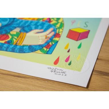 Martin Krusche - Fineartprint »Frida« DIN A4