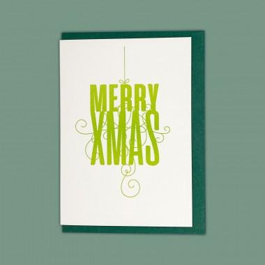 Feingeladen // FANCY TYPE // Merry Xmas (LG) // RISO-Klappkarte, A6