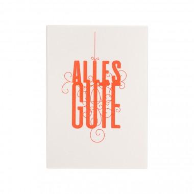 Feingeladen // FANCY TYPE // Alles Gute (FO) // RISO-Klappkarte, A6