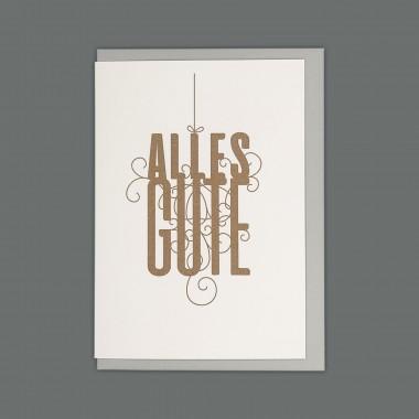 Feingeladen // FANCY TYPE // Alles Gute (GD) // RISO-Klappkarte, A6