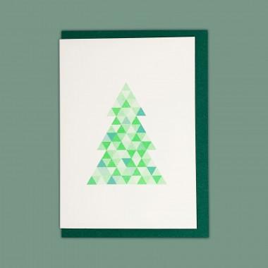 Feingeladen // FLASHY TRIANGLES // Tree (FGMI) // RISO-Klappkarte, A6