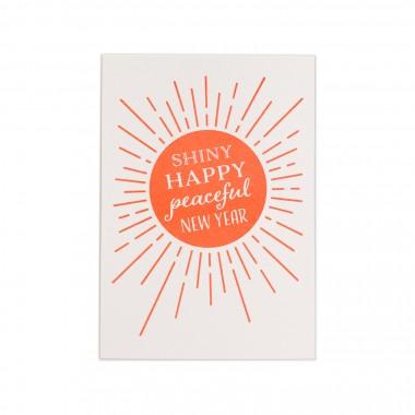 Feingeladen // KARAOKE INSPIRED // Shiny happy peaceful New Year (FO) // RISO-Klappkarte, A6