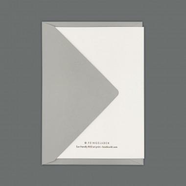 Feingeladen // LIKE ORIGAMI // Swan »In stiller Trauer« (BKGD) // RISO-Klappkarte, A6