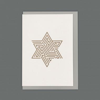 Feingeladen // LINE ART // Star (CP) // RISO-Klappkarte, A6