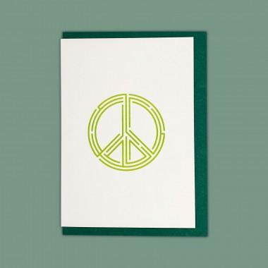 Feingeladen // LINE ART // Peace (LG) // RISO-Klappkarte, A6