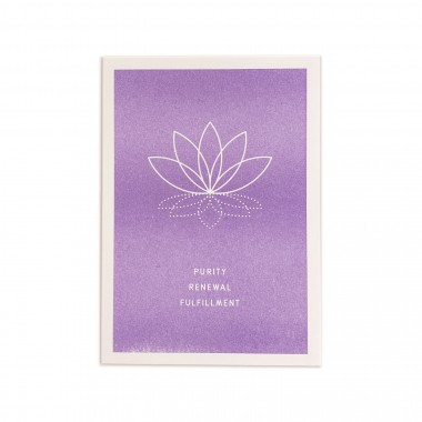 Feingeladen // SIMPLY DIVINE // Lotus Flower »Purity Renewal Fulfillment« (VT) // RISO-Klappkarte, A6