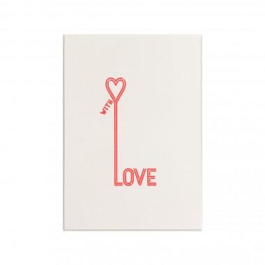Feingeladen // TYPOGRAFICA // Love (FR) // RISO-Klappkarte, A6