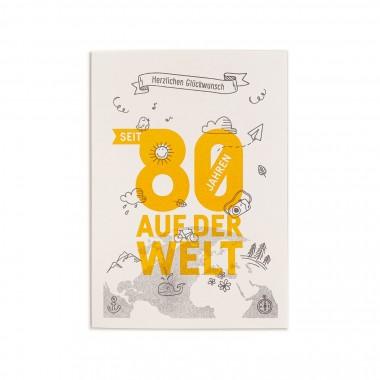 Feingeladen // NUMBERS // »Seit 80 Jahren« (GRSF) // RISO-Klappkarte, A6