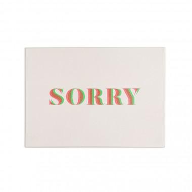 Feingeladen // MAGIC WORDS // »Sorry« (FRFG) // RISO-Klappkarte, A6