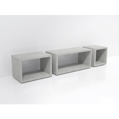 Beton Lowboard »Naked Cube«
