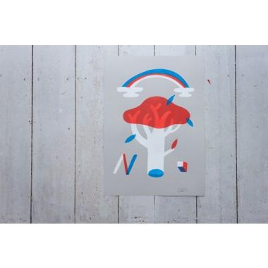 Stencil Artprint »Garden«, 50x70cm