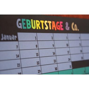 Geburtstagskalender | Ewiger Kalender | Immerwährender Kalender | Dauerkalender | Wi-La-No