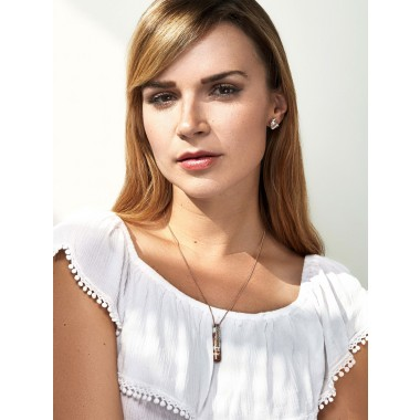 [GS02] Beton Halskette Kette Ovisproducts - WHITE ROSÉ