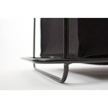 Hocker Grit black - Gartenmöbel