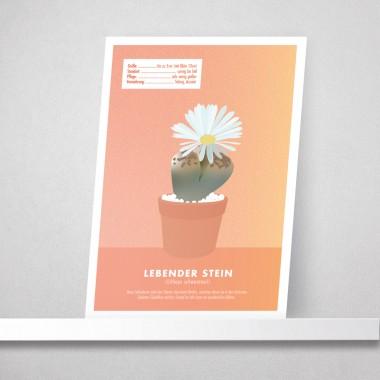"Hey Urban Monkey - A4 Poster - ""Lebender Stein"""