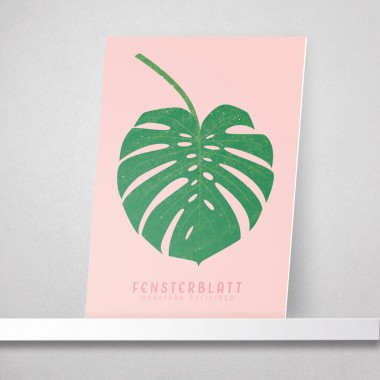 "Hey Urban Monkey - A4 Poster - ""Fensterblatt"""