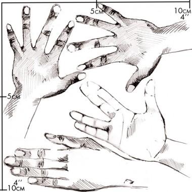nuukk Hände Porzellansticker