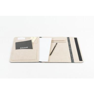 RÅVARE Dokumententasche Dokumentenmappe für A4-Dokumente und Tablet ≤12.3″ in grau-beige [HELLA]