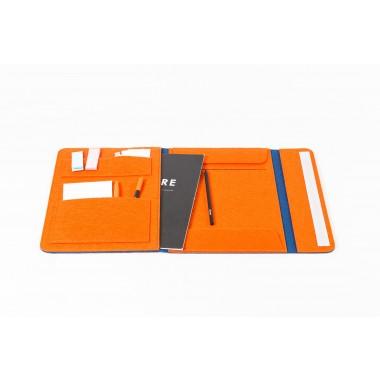 RÅVARE Dokumententasche Dokumentenmappe für A4-Dokumente und Tablet ≤12.3″ in blau-orange [HELLA]