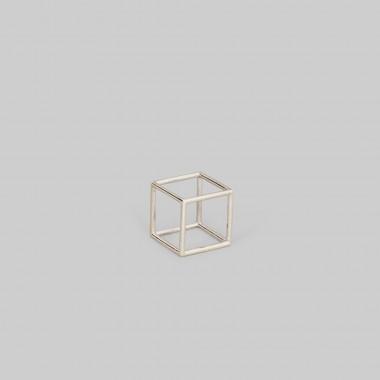 "Teresa Gruber Anhänger platonic solids- ""Hexaeder"" 925 Silber"