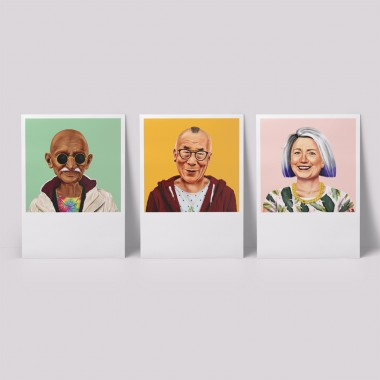 edition ij HIPSTORY DIN A5-Wandprints im Set (6 verschiedene Motive)