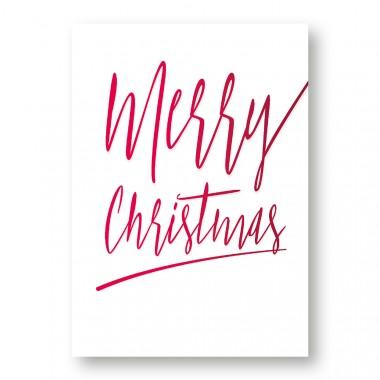 "Frau Schnobel Grafik Weihnachtspaostkarten ""Merry Christmas – A"" 4er Set"