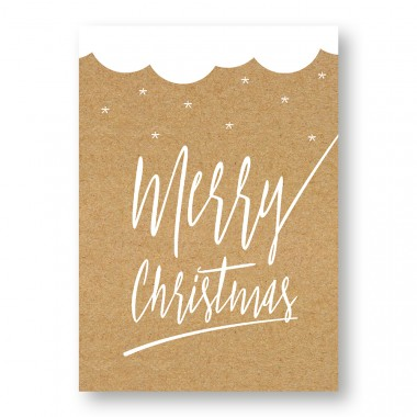 "Frau Schnobel Grafik Weihnachtskarten ""Merry Christmas – C"" 4er set"