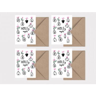typealive / Weihnachtskarten 4er Set / Holey Night