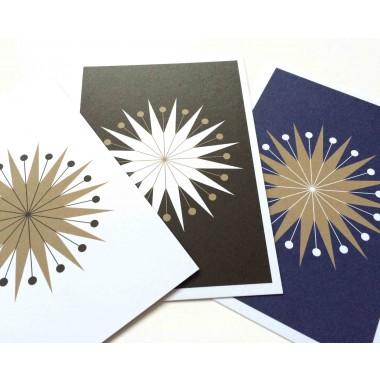 """3 Weihnachtskarten """"StarMail"""""""