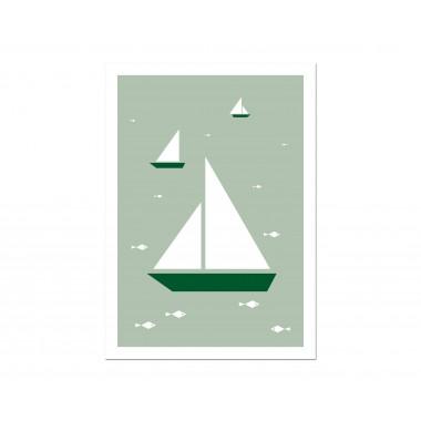 """Held&Lykke 3 Postkarten """"BoatFishBird"""""""