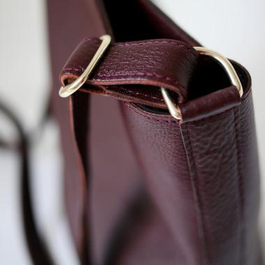 Hobo Bag echt Leder Bordeaux