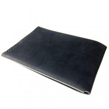LIEBHARDT - simples schlichtes Portemonnaie aus pflanzlich gegerbtem Leder handgenäht - cardholder (schwarz)