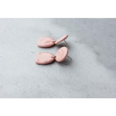 Skelini - Pinke Porzellanohrringe