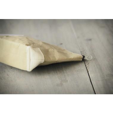 Federmappe, Kulturbeutel, handgefertigtes Etui aus Zementsack-Papier