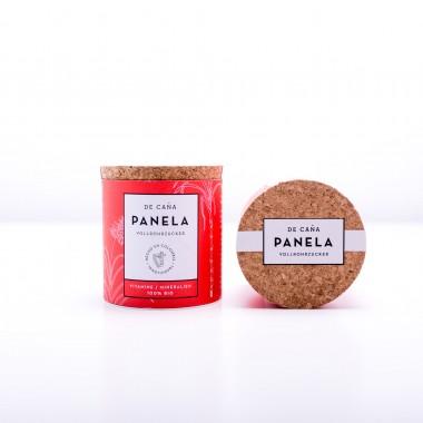 """DE CAÑA Panela aus Kolumbien -  Der feine Naturzucker/Kaffeezucker, 125g Zuckerdose """"Azucarera"""" + Refillpack, 250g"""