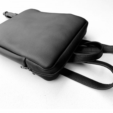 STUDIO AWEARE kleiner Rucksack TONI MINI, schwarz, Leder, Minirucksack
