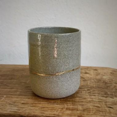 3punktf Keramikbecher mit Goldlinie