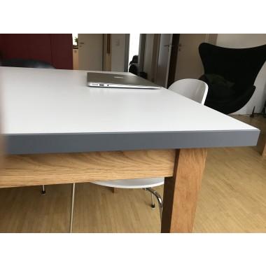 REKORD Esstisch weiß / Eiche 220 cm