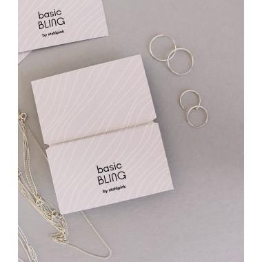 stahlpink – Kettchen aus nachhaltigem recyceltem Silber, 60cm