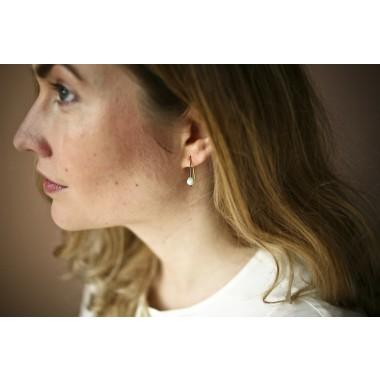 Gudbling // Minimalistische Amazonit Ohrringe