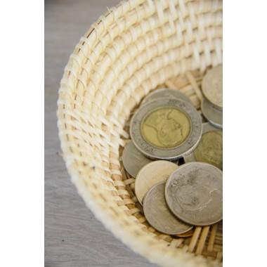 Korb, handgefertigt aus Rattan, dekorative Schale
