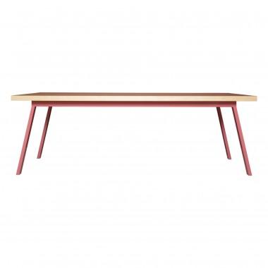 Ess- und Konferenztisch aus recyceltem Bauholz und Stahl | VALKENBURG ALTROSA