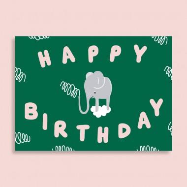 Family Tree Shop / 2er Postkarten-Set / Happy Birthday