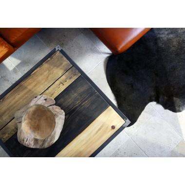 Couchtisch aus Bauholz und Eisen Jeroen