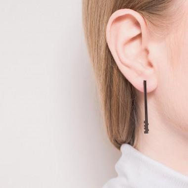 Jasmina Jovy Jewellery Decode! Earrings EADC02 black rhodium